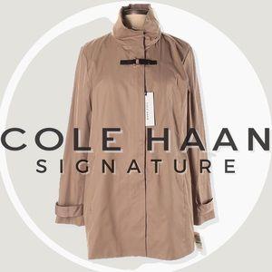 NWT Cole Haan Stowaway Hood Zip Jacket w/ Buckle